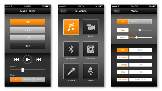 『Audio Player』アプリデザイン
