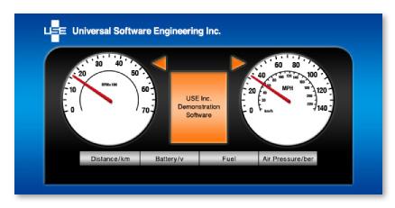 『Automotive Smartphone Solution』アプリデザイン1