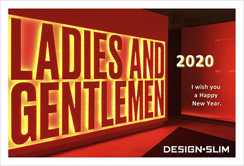 DESIGN+SLIM 2020年 年賀状